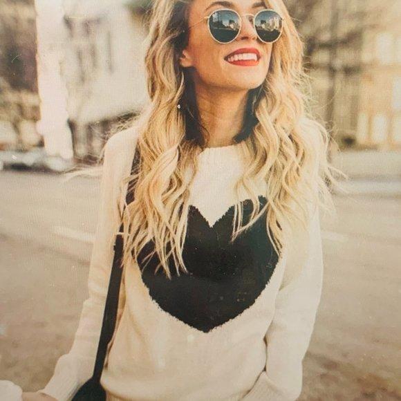 Betsey Johnson Sweaters - BETSEY JOHNSON SUPERSOFT HEART SWEATER